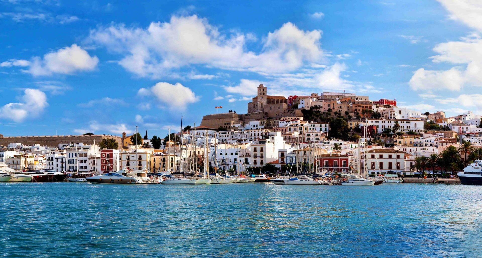 16063186 - panorama of ibiza old city - eivissa. spain, balearic islands